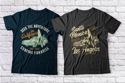 Surfing t-shirts set