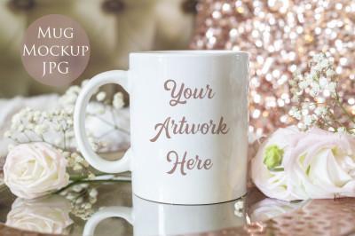 Mug mockup - Elegant rose gold