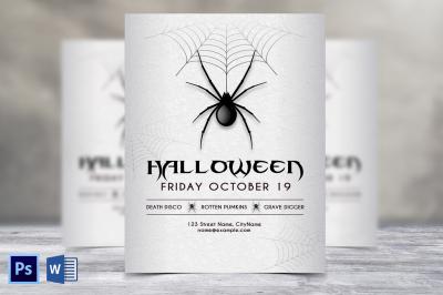 Spider Halloween Flyer