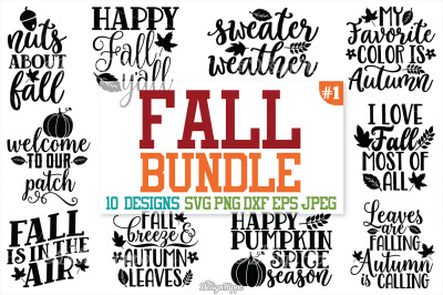Fall SVG Bundle, Autumn, Fall, Pumpkin spice, Fall yall SVG, Cut files