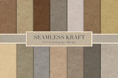 Seamless kraft paper textures