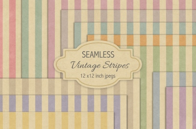 Seamless vintage stripes