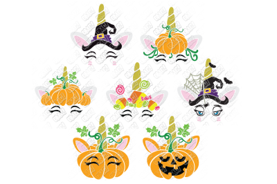 Halloween Unicorn SVG in SVG/DXF/PNG/JPG/EPS