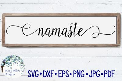 Namaste Sign SVG