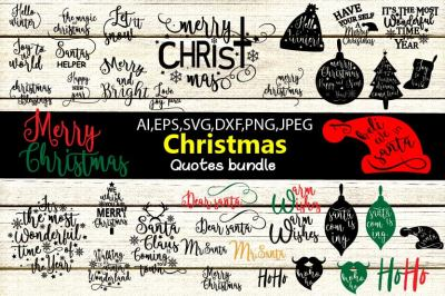 Christmas quotes bundle svg cutting files | quotes svg cutting files