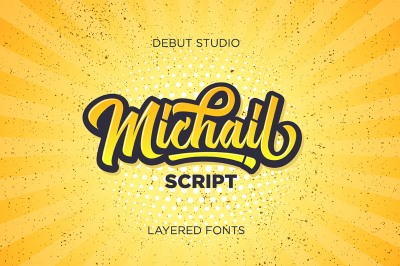 Michail Script (Layered Fonts)
