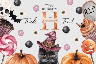 Trick or Treat! Halloween Watercolor Set