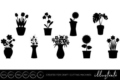 Vase SVG Cut File - Vases SVG Cut Files