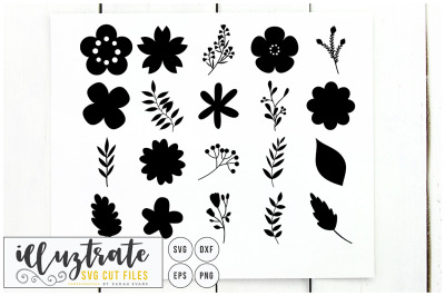 Flowers SVG Cut File, Vector Flowers