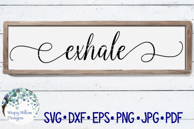 Exhale Sign SVG