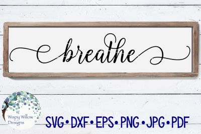 Breathe Sign SVG