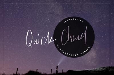 Quick Cloud - script font