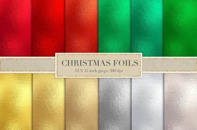 Christmas metallic foil