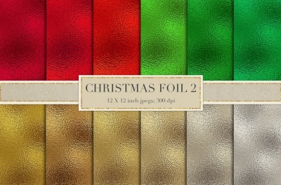 Christmas metallic foil textures