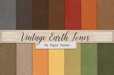 Earth tone vintage paper textures