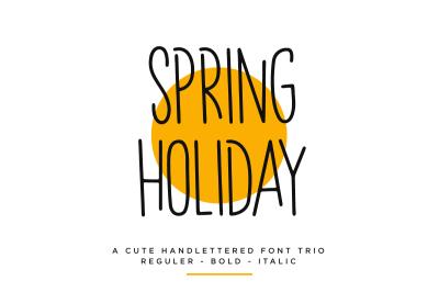 Spring Holiday | 3 Handwritten Font