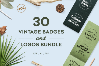Vintage Badges and Logos Bundle V02