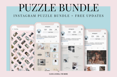 Instagram Puzzle Bundle + FREE Updates