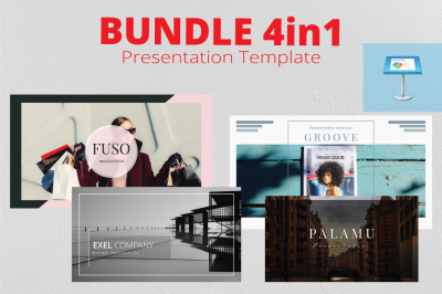 4in1 Bundle Keynote Template