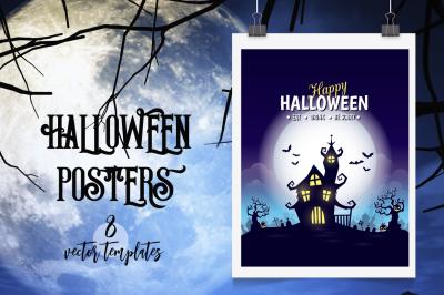 Halloween vector posters