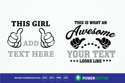 This is what an awesome looks like, thumbs - Svg Dxf Eps Png