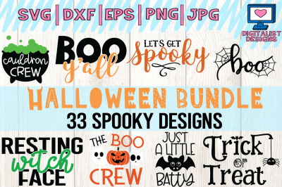 Halloween bundle svg, fall, october, witch, png, dxf