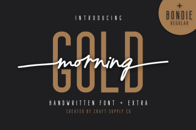 Morning Gold - Handwritten Font