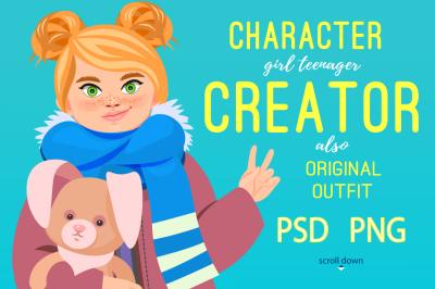 teenager CHARACTER CREATOR (PSD)