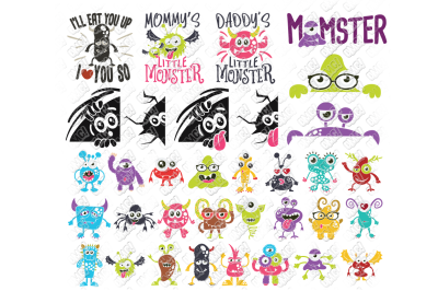 Monster SVG Bundle Halloween in SVG, DXF, PNG, EPS, JPEG
