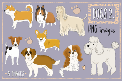 Dogs Part 2 | CLIP ART illustrations PNG images