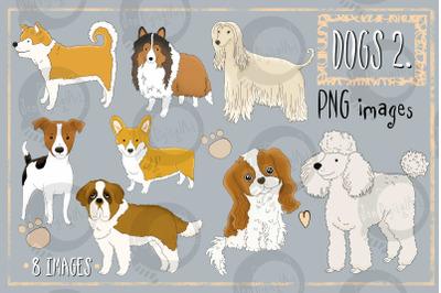 Dogs - Part 2 | CLIP ART illustrations PNG images