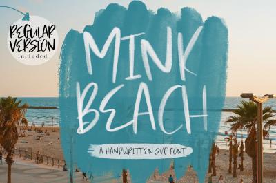 Mink Beach Font + SVG Font