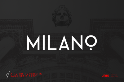 Milano - RetroFuturistic Sans