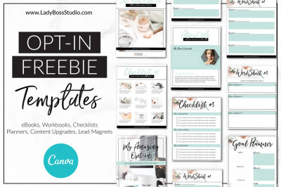 Canva Opt-in Freebie Templates - Turquoise