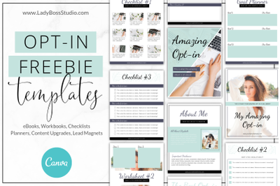 Canva Turquoise Opt-in Freebie Templates
