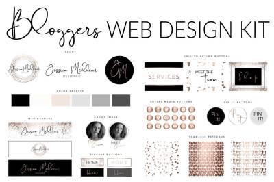 Rose Gold Website Branding Kit Photoshop