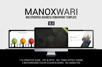 Manoxwari PowerPoint Template