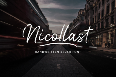 Nicollast Handwritten Brush Font