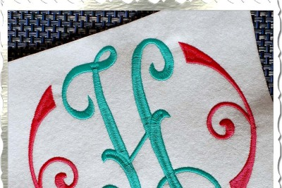 Large Arabesque Monogram Machine Embroidery Font Alphabet