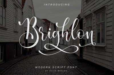 Brighlon - Modern Script Font