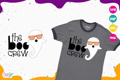 The boo crew, ghost, striped glasses, halloween svg files