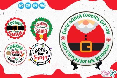 Cookies for santa mini bundle, Christmas Eve svg, holiday
