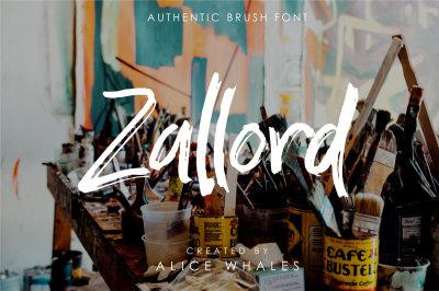 Zallord - Brush Font