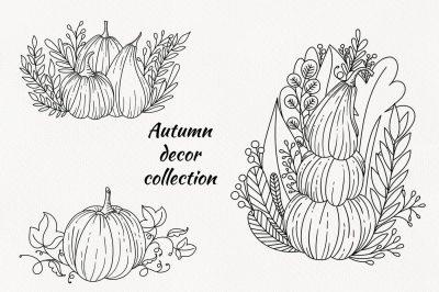Pumpkin Engravings set