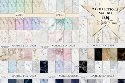 Marble Digital Paper BUNDLE 104 Textures
