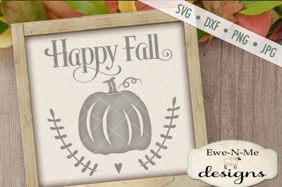 Happy Fall Pumpkin SVG