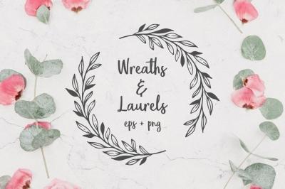 Wreaths, laurels & frames