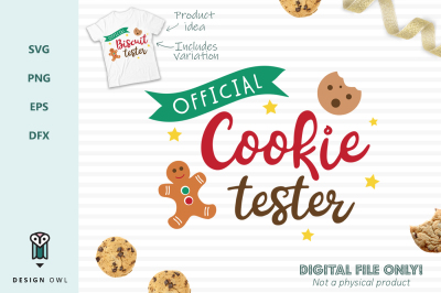 Official cookie tester / biscuit tester bundle SVG PNG EPS DFX