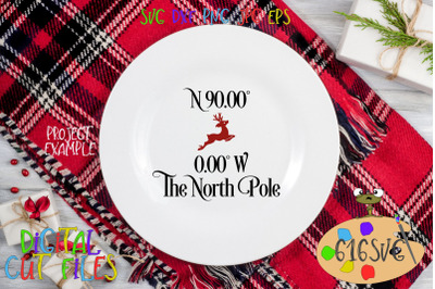 The North Pole Coordinates SVG