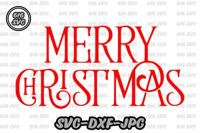 Merry Christmas SVG DXF